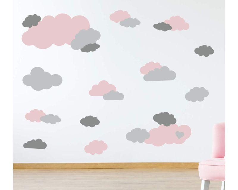 WT 516 Wolken Wolke für  Kinderzimmer Schlafzimmer Wandtattoo Aufkleber