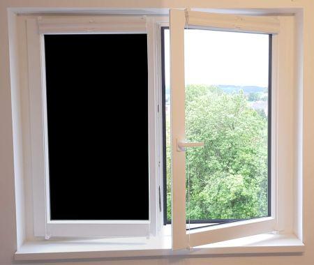 timalo® Blickdichte Verdunkelungsfolie - schwarz