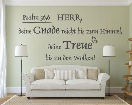 Wandtattoo Psalm 36,6