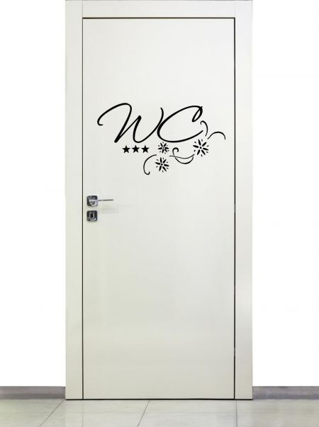 Türaufkleber WC mit Ranke 72017