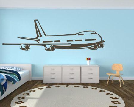 Wandtattoo Flugzeug - Boing 747 -  72451
