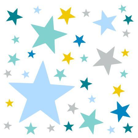 timalo® XL Wandtattoo 120 Sterne – Aufkleber | 73079-SET25-120