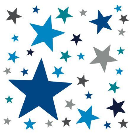 timalo® XL Wandtattoo 120 Sterne – Aufkleber | 73079-SET26-120