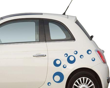 Autoaufkleber - Blasen, Kreise, Punkte - dots-set1