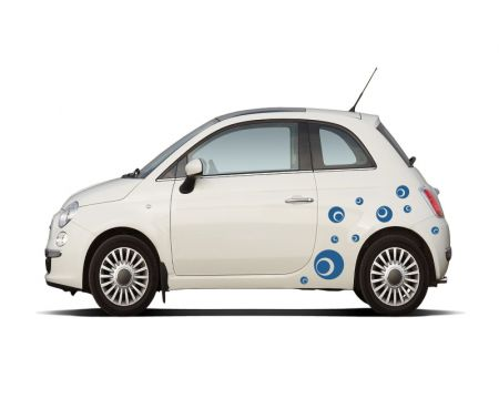 Autoaufkleber - Luftblasen, Kreise, Punkte - dots-set2