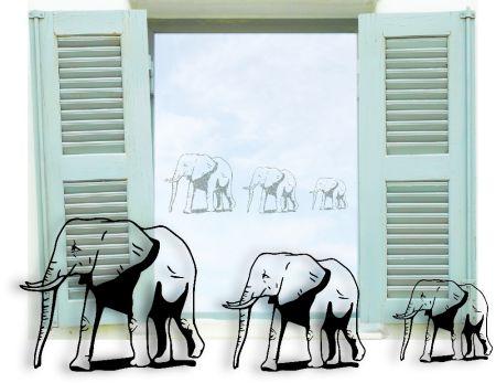 Glastattoo Elefanten glas040