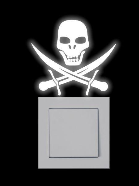 Nachleuchtender Aufkleber - Pirat - SH003