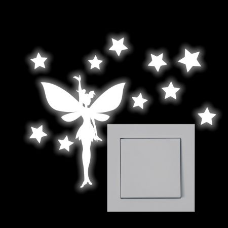 Leuchtaufkleber für Lichtschalter - Elfe - SH006