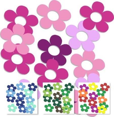 Blumenaufkleber Shiny Flowers 4060